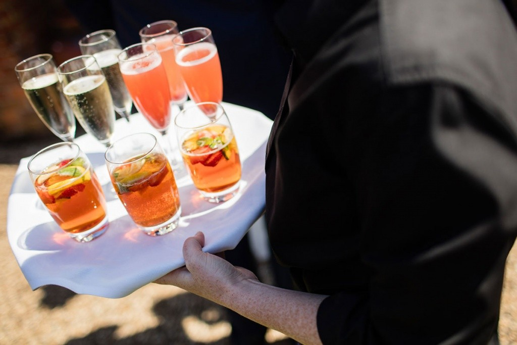 Chris giles Photography. Summer drinks for a Champagne reception.