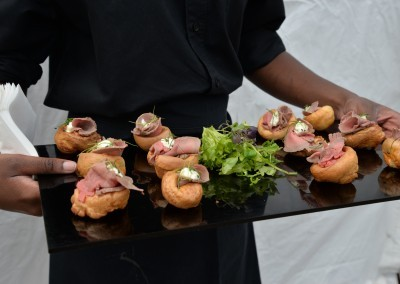 One of the signature canapés