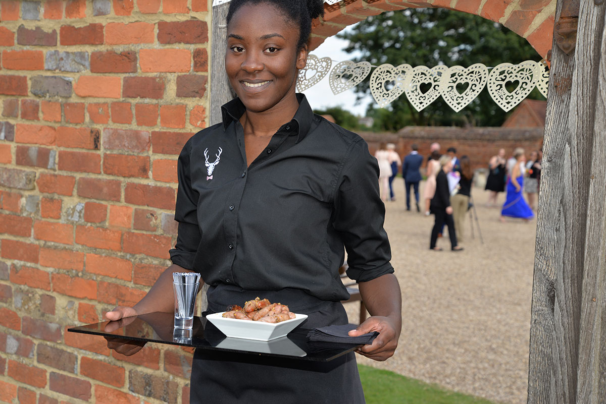 canapé served by our attentive waiting staff.