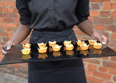 canapés to fill the gap between the wedding and the wedding breakfast