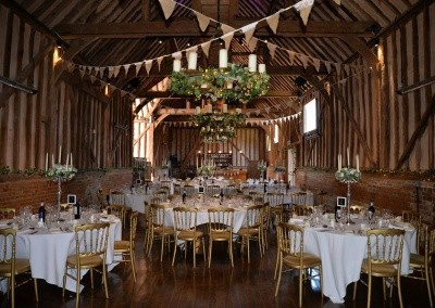Great Barn dressed for a wedding