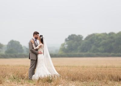 Annem & Michael. Back Drop of the Corn Fields