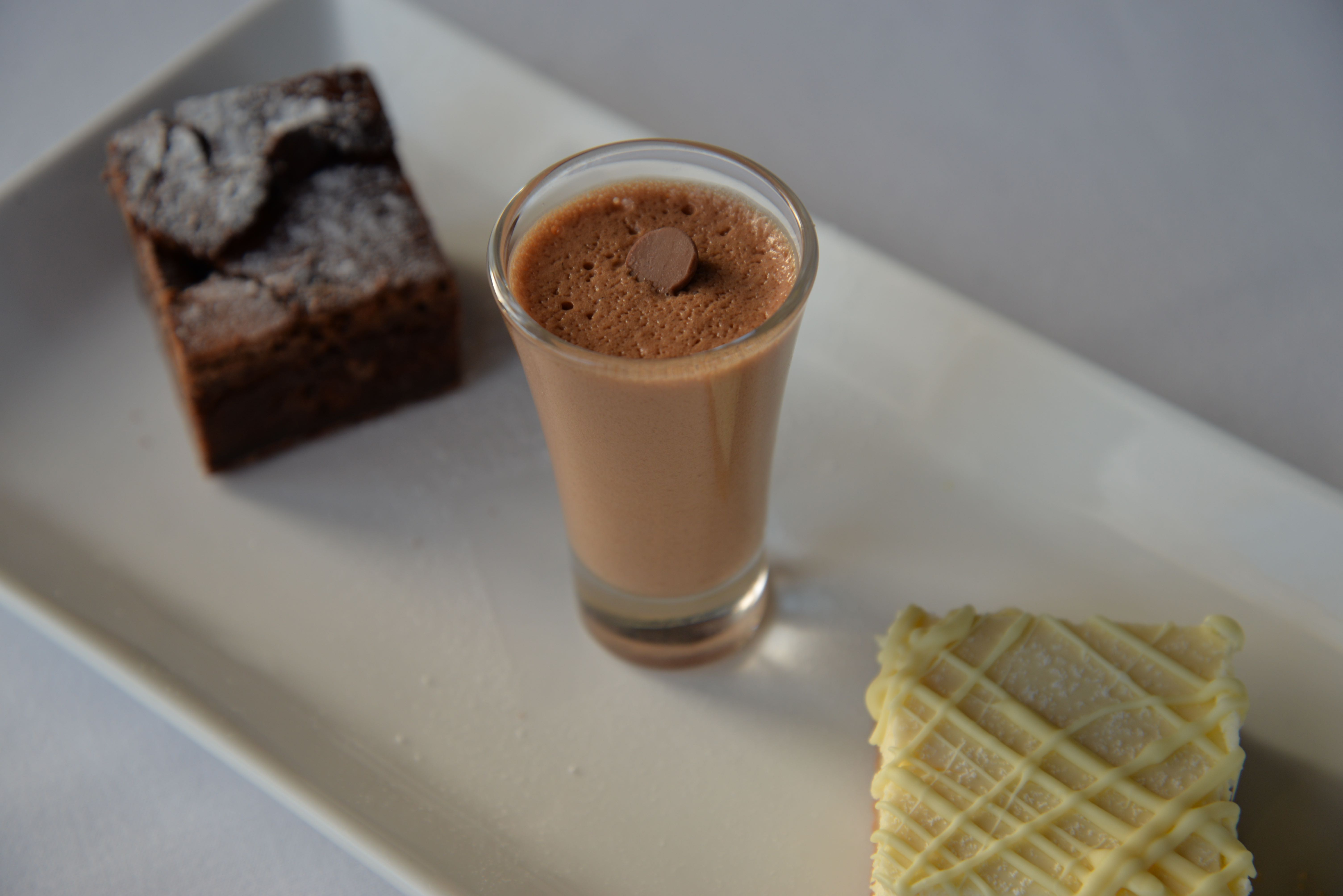 Trio of chocolate deserts