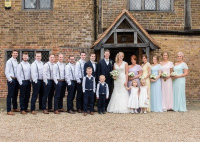 Faye Cornhill Photography. Group shot infront of the  Manor House.