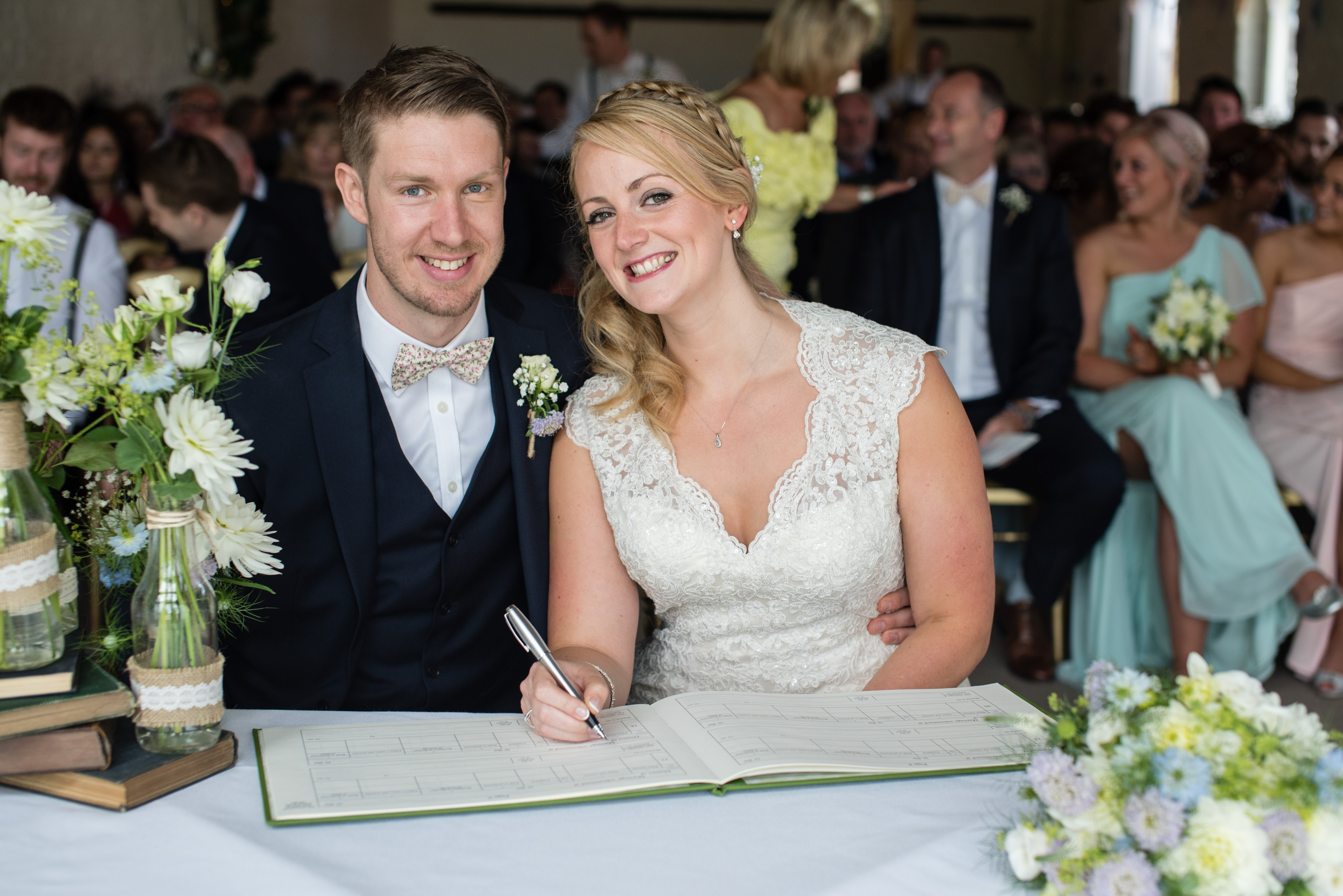 Faye Cornhill Photography, Signing the Registry in the Small Barn