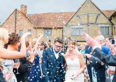 Hannah McClune Photography. The Confetti shot infront of the Manor House.