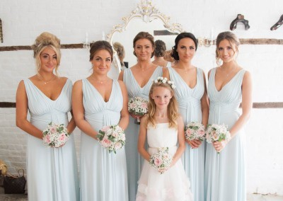 LG Fine Art Wedding Photography. Bridesmaids in the bridal preperation room.