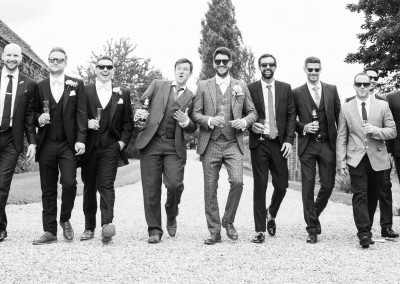 LG Fine Art Wedding Photography. Classic ! Here come the Lads!