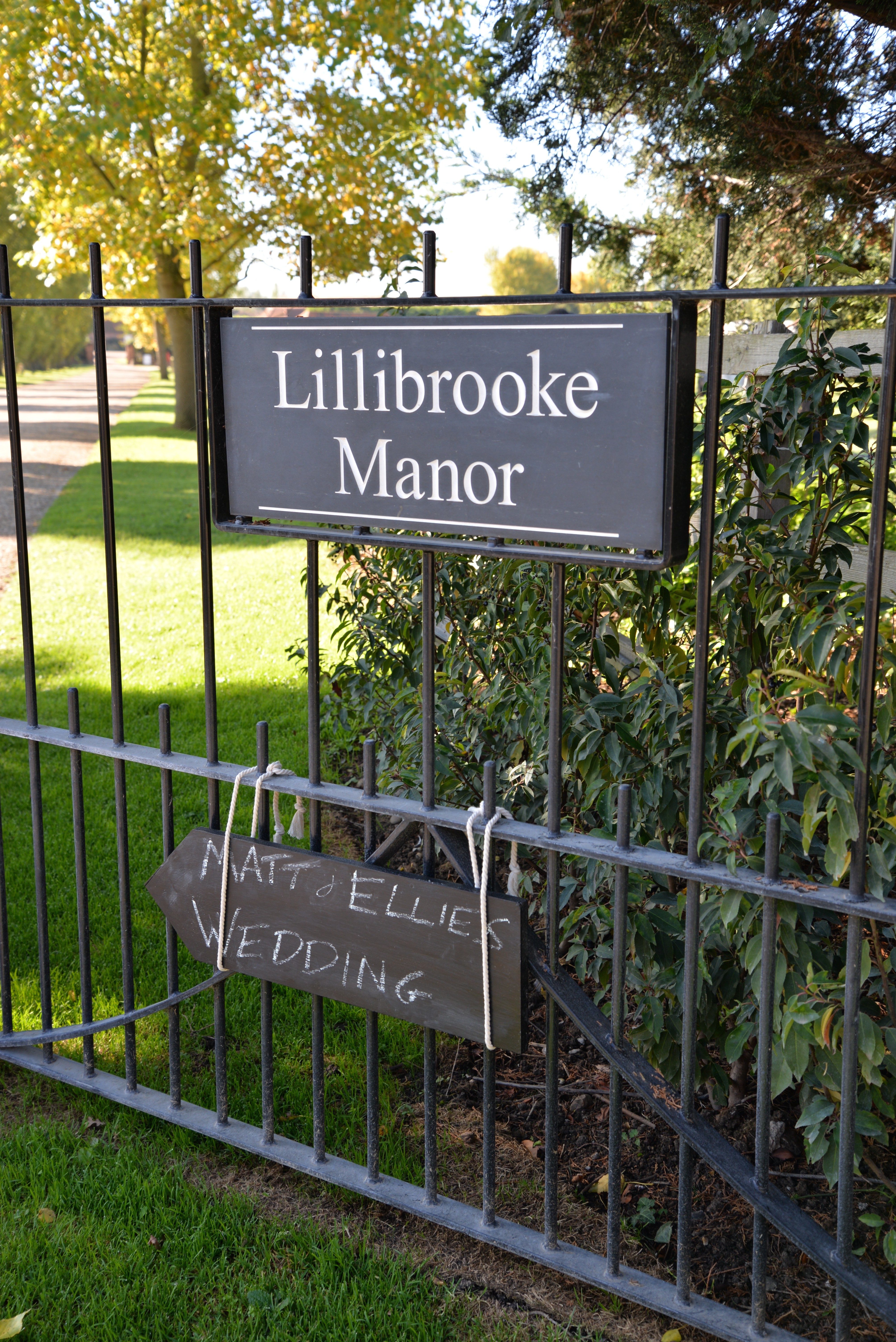 Lillibrooke Manor Sign on Main Drive