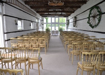Small Barn set for wedding ceremony