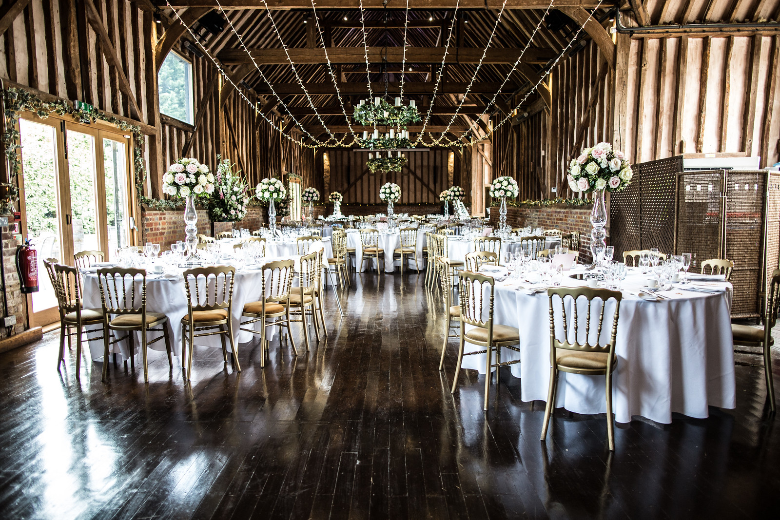 The Great Barn Set For A Wedding Breakfast